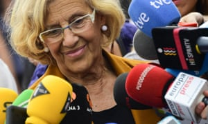 Manuela Carmena's rise to power in Madrid is mirrored by similar victories for Spain's anti-establishment parties in Barcelona and Valencia