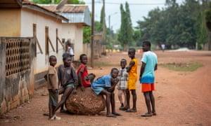 Children of cocoa farmers near Adzope