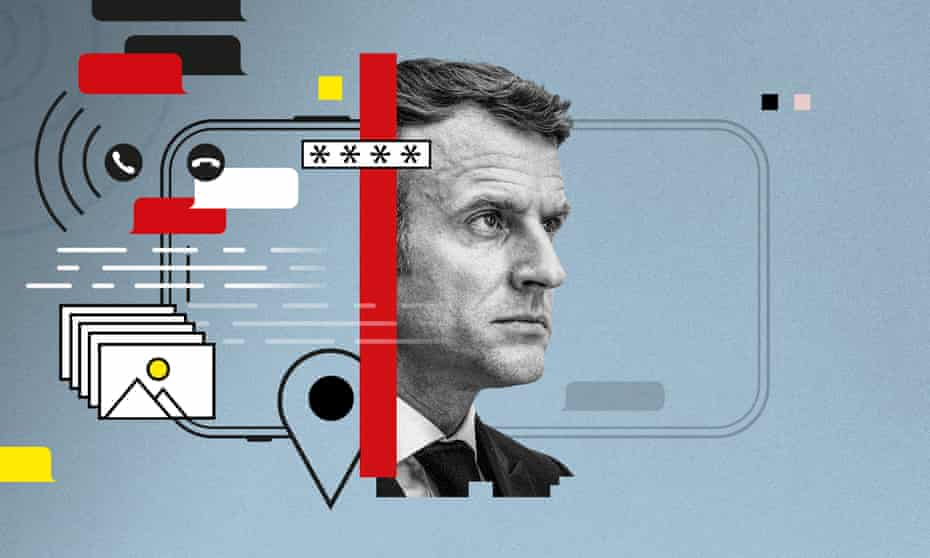 NSO has said Macron was not a 'target' of any of its customers, meaning the company denies he was selected for surveillance using Pegasus.