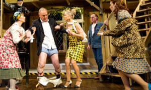 And they're down! … Michael Frayn's Noises Off at the Old Vic in 2011.