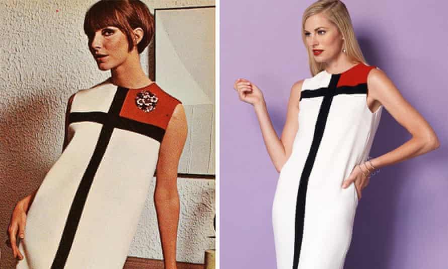 Vogue's Mondrian dress, with a modern recreation.