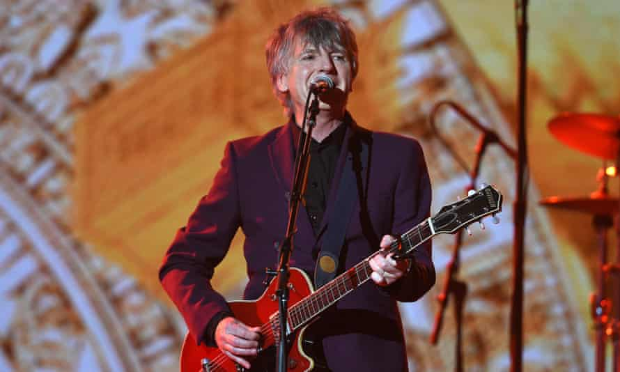 Neil Finn of Crowded House performs with the band