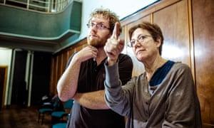 The Passion director Penny Woolcock with evangelist Joshua Ellicott. Photo Alan Kerr
