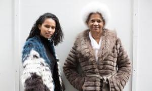Danielle Nichols and her grandmother Sylvina McMillan.