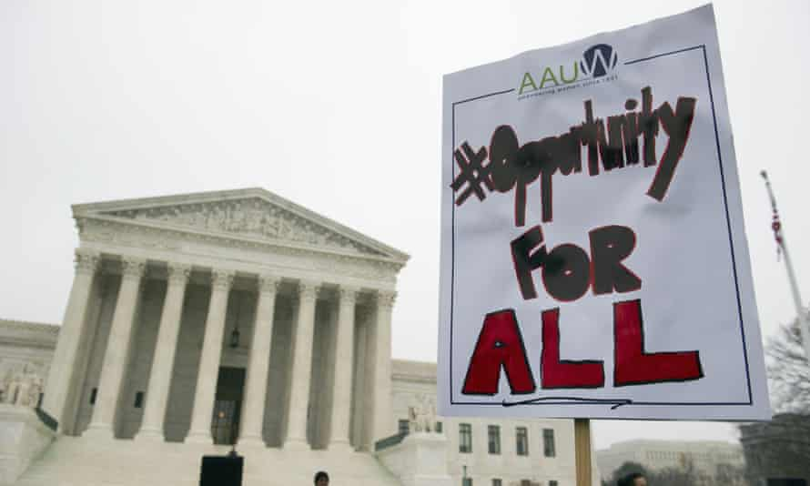 Supreme court demonstrator sign