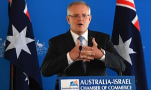 Scott Morrison tells the Australia-Israel Chamber Of Commerce he wants Australia to 'reject the thinking that one person's gain is another's loss'