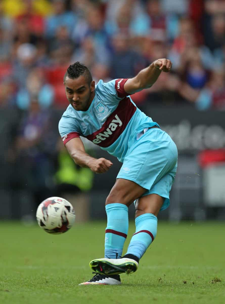 West Ham's Dimitri Payet demonstrates some of his skills.