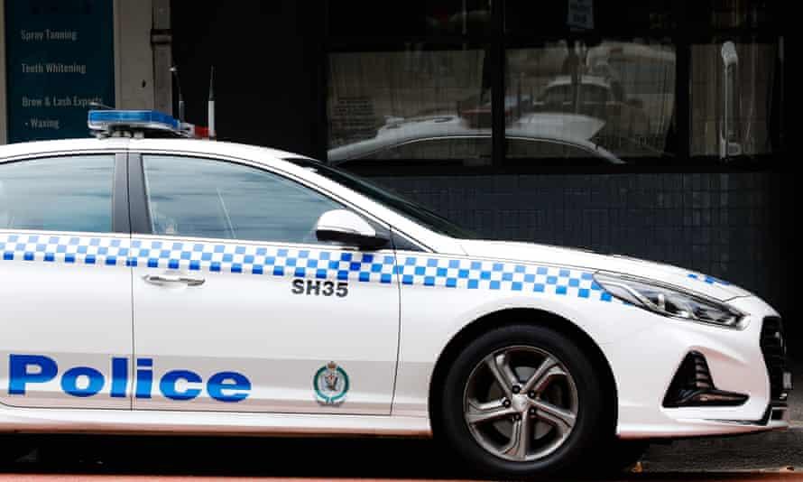A police car on Oxford Street Paddington, NSW, Australia.