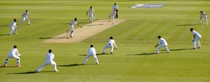 Every single England fielder is in a catching position and Stokes finds Lyon's edge with his second delivery, the ball dies on its way to Root at ultra-close short third slip though.