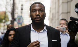Meek Mill arrives at the criminal justice centre in Philadelphia on Monday.