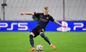 Oleksandr Zinchenko offers Manchester City balance.