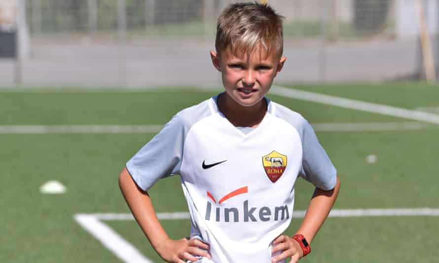 Alessandro Cupini, who has Italian heritage, pictured during a trial with Roma this summer.