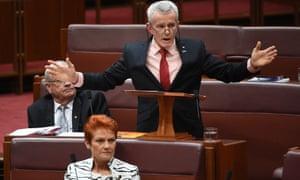 Malcolm Roberts and Pauline Hanson