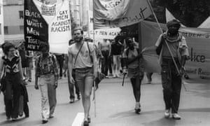 'We assumed that if we didn't have it today, we would have it tomorrow' … David France, centre, on a march.