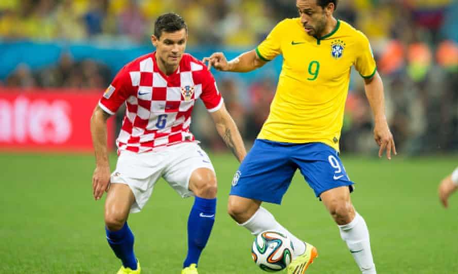 Dejan Lovren, left, in action for Croatia at the 2014 World Cup in Brazil.