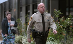 Sergeant Keith Wildhaber. Jurors in St Louis county court also heard that a police captain had called Wildhaber 'fruity'.