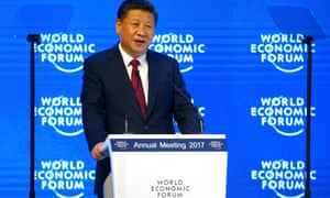 Chinese President Xi speaking to Davos right now.