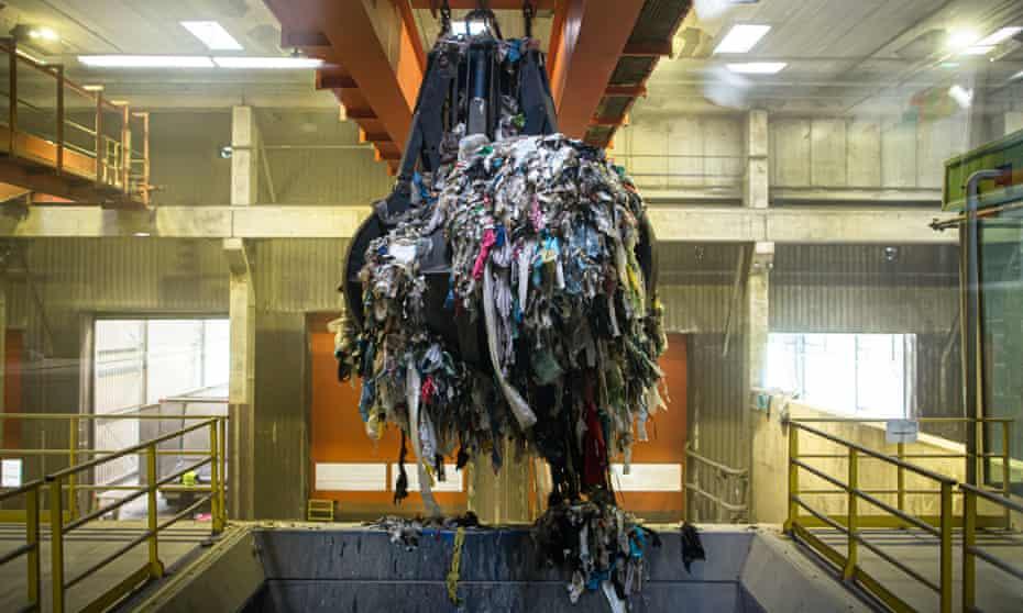 Waste is loaded into a shredder at Ljubljana's mechanical biologial treatment plant