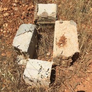 A tiny grave at al-Rahma cemetery
