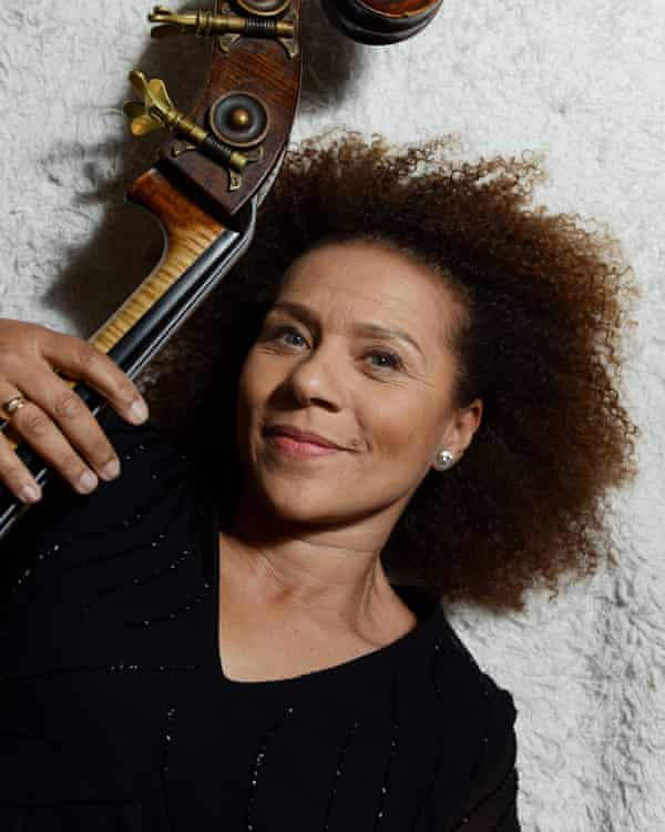 double-bassist Chi-chi Nwanoku, founder of Chineke!, a black and minority ethnic orchestra.