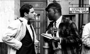 Thomas Baptiste, right, with Anthony Newley in The Small World of Sammy Lee, 1963.