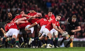Conor Murray of the Lions takes possession during the third Test against the All Blacks at Eden Park in Auckland in 2017