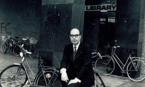 Philip Larkin outside Hull University