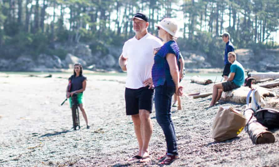 Lululemon founder and billionaire philanthropist Chip Wilson, centre, recently bought the small coastal island of Saturnina and donated it to charity.