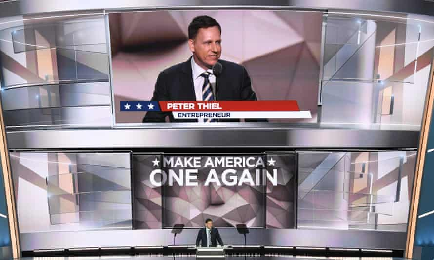 Peter Thiel speaks on the last day of the Republican national convention.