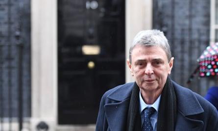 Dave Prentis of Unison leaving 10 Downing Street