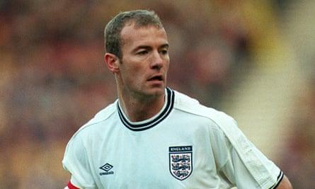 Alan Shearer on England duty in 1999