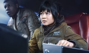 Kelly Marie Tran as Rose and John Boyega as Finn in Star Wars: The Last Jedi.