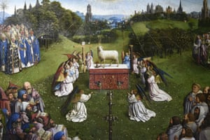 The Adoration of the Mystic Lamb, the central panel of the Ghent Altarpiece