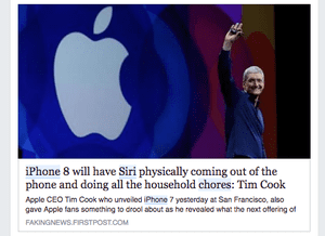 Fake Apple news