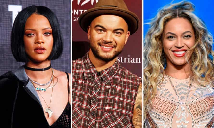 Rihanna, Guy Sebastian and Beyoncé