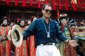 1987 Bernardo Bertolucci in set of The Last Emperor