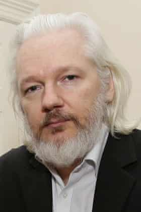 Julian Assange pictured in August.