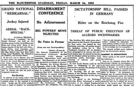Manchester Guardian, 24 March 1933.
