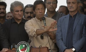 Imran Khan speaks to supporters