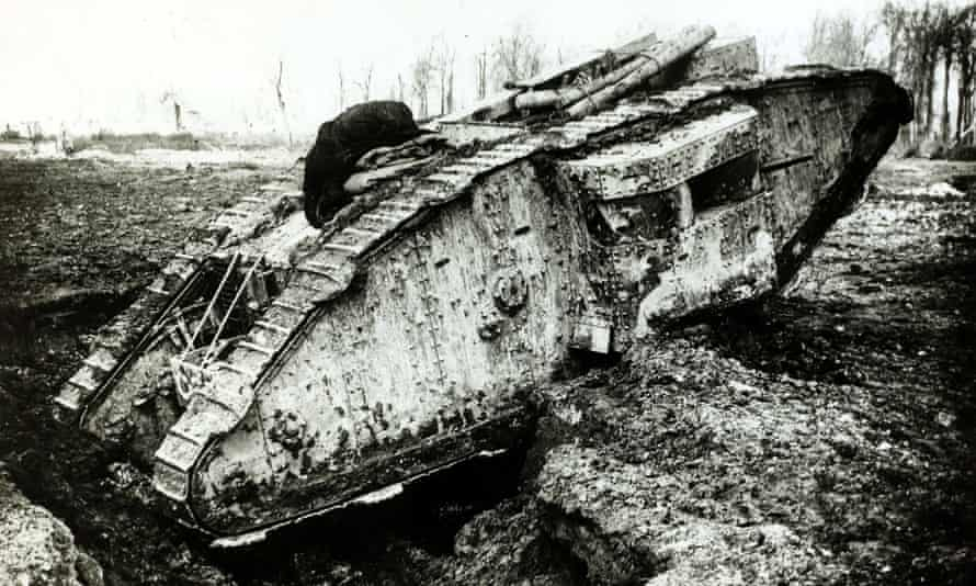 A British tank in action in 1917 .