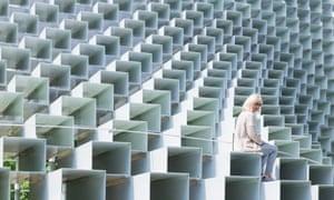 The 2016 Serpentine pavilion by Bjarke Ingels Group.