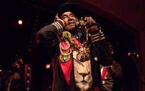 Lee 'Scratch' Perry in concert at The Classic Grand, Glasgow in March 2017.