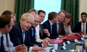 Boris Johnson's first cabinet meeting