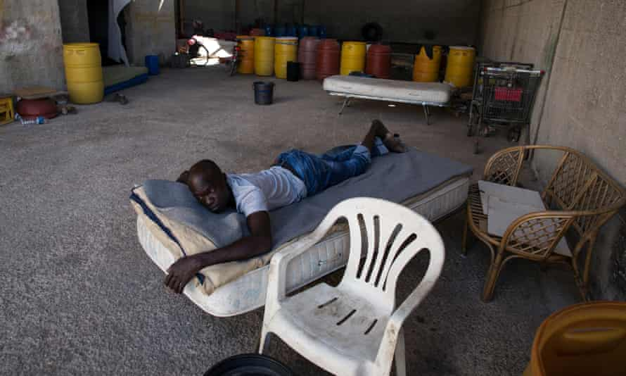 An African migrant worker in the Campobello region, Sicily.