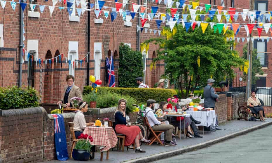 Socially distanced VE Day street party