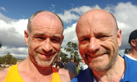Gregory and Michael after the 11km Nail Can Hill Run in Albury