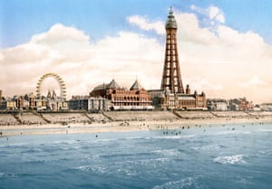 Blackpool Tower and North Pier, Blackpool, 1900.