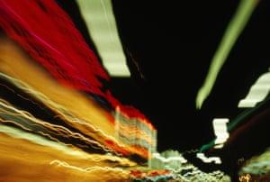 Regent Street DriveRegent Street London, Xmas lights, slow shutter, camera on car dashboard Photograph: David Dobbing/GuardianWitness