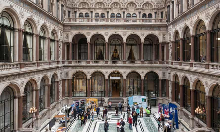 Interior courtyard of the Foreign and Commonwealth Office, London, UK