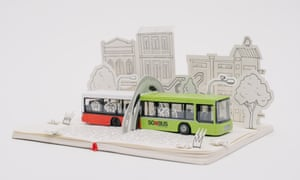 Broken toy bus reworked by the Mighty Jaxx art collective